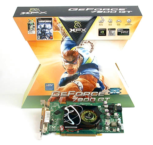 The distinctive X-shaped packaging of the XFX GeForce 7900 GT 256MB Extreme Edition came with a March 2006 date that's likely to be its manufacture date.