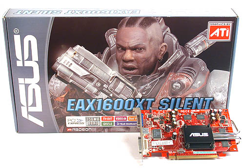 ASUS' latest silent graphics card based on the Radeon X1600 XT 256MB: EAX1600XT Silent.