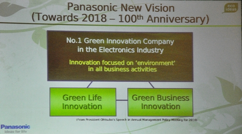 "What's better than celebrating a 100th anniversary with aplomb? Celebrating it alongside an ecological purpose, of course. Panasonic is revving their eco engines with a number of ""green"" initiatives before they celebrate their 100th anniversary in the year 2018."