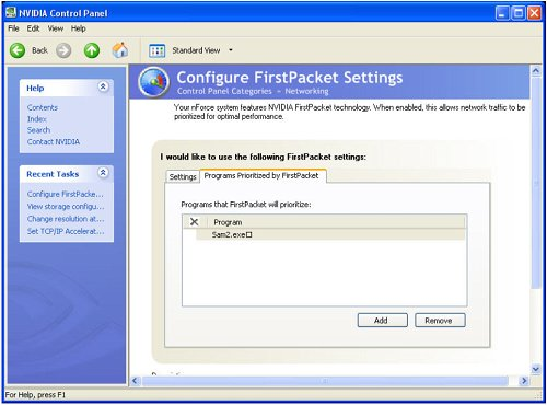 Creating application profiles to take advantage of FirstPacket prioritization.