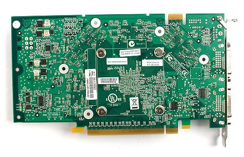 With all the memory parts on the forward face, the rear of the card is relatively bare.