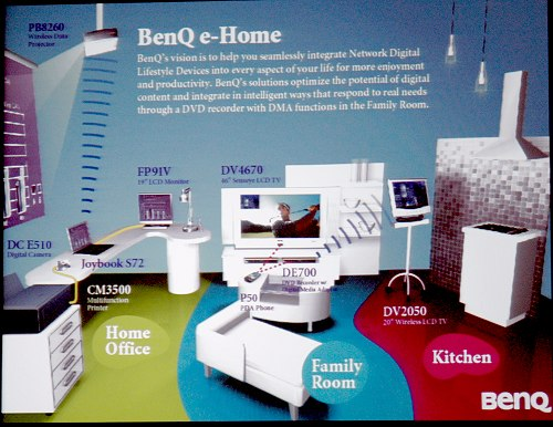 A preview of BenQ's e-Home concept.