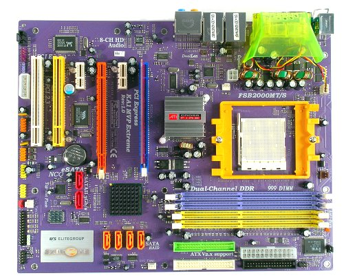 The ECS KA1 MVP Extreme motherboard.