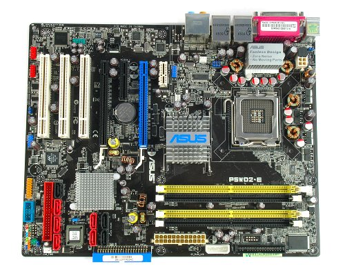 The ASUS P5WD2-E Premium motherboard.