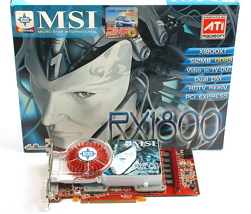 MSI joins our bout of Radeon X1800 XTs with its RX1800XT-VT2D512E.