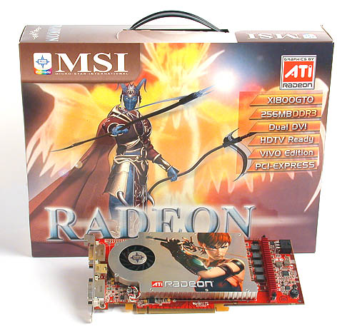 What's the relation between graphics cards and fantastical creatures? The package of MSI's Radeon X1800 GTO features just such an apparition.