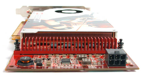 Besides the above average length of its PCB, the Radeon X1800 GTO also requires a dedicated power connector, which is provided in the package.