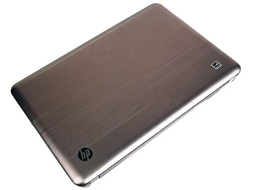 Looking all shiny and silver is the HP Pavilion dv3