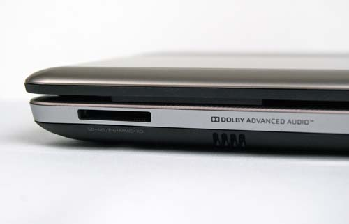 The front is where you will slot in your SD Card into the 5-in-1 SD card reader.