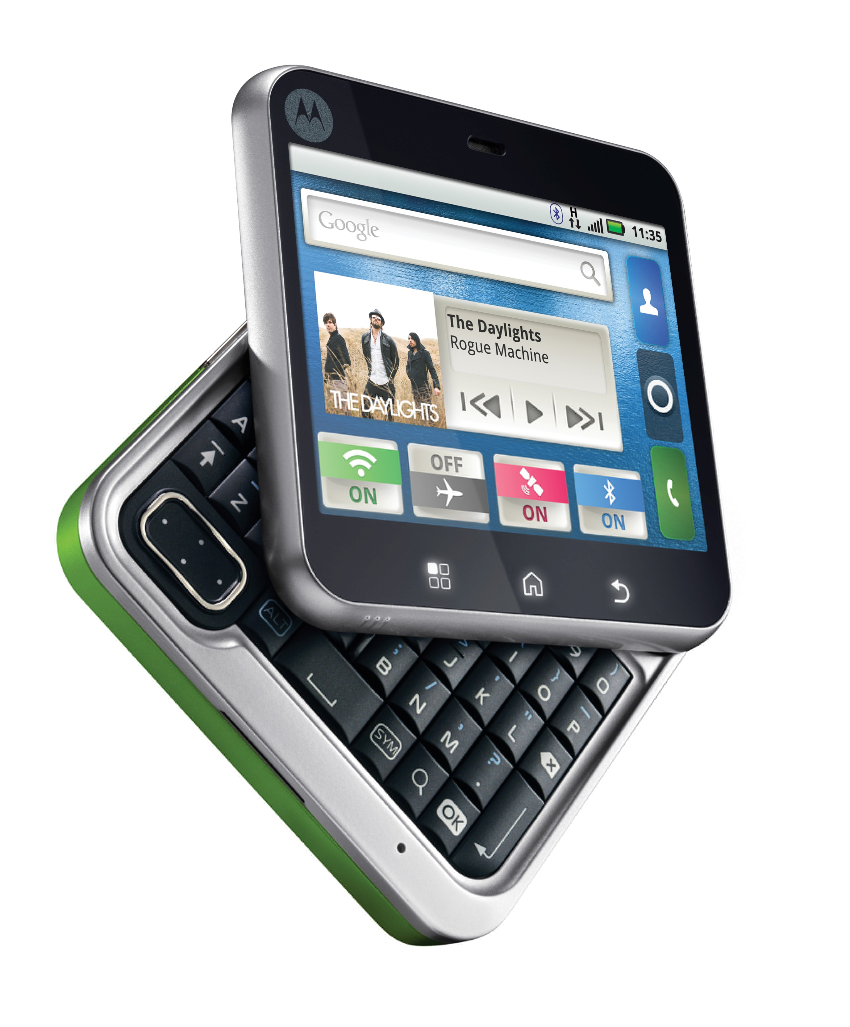 motorola flipout. green is one of the four colors you can choose from to dress flipout - motorola flipout