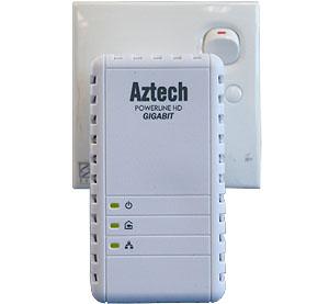 Aztech HL280E 1000Mbps Mediaxtream HomePlug AV