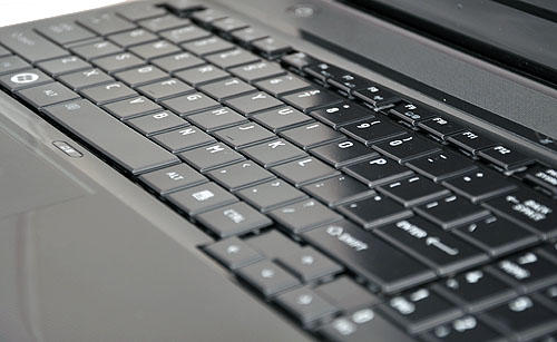 The keyboard isn't as glossy as the first generation of this keyboard design, so that's a relief at least.