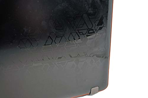 The black cover actually has pretty interesting patterns etched on it.