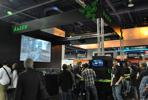 Razer's booth over at CES is made for gamers in mind, obviously.