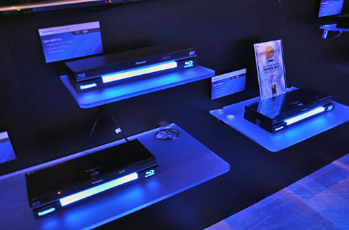 New Blu-ray players from Panasonic: the DMP-BDT210, the DMP-BDT310 and  the DMP-BDT110. Each unit has their own distinctive features, but all share Skype capabilities and 3D Blu-ray playback.