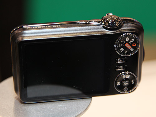 The rear view of the FinePix JX350.