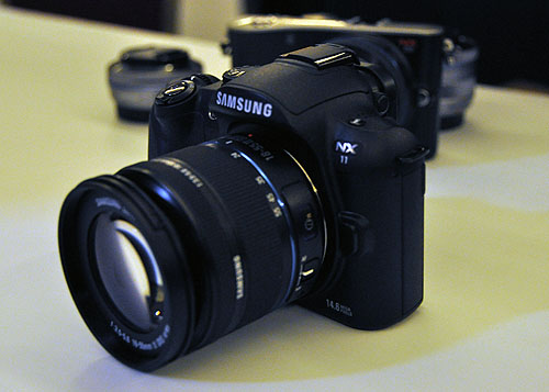Announced just last week, the Samsung NX11 will probably make its way into your wallets. Looks wise, it shares much with the previous model and features inter-changeable lenses too.
