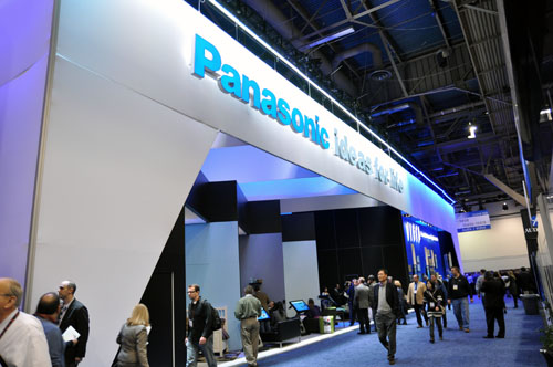 Panasonic's booth is really huge, with plenty of space to walk around and even a section for a chat session with Hollywood directors.