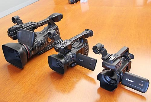 A size comparison between the XF305, XF105, and XA10.