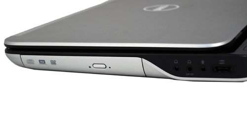 On the right profile, you'll find the optical drive, audio jacks and a USB/eSATA combo port.