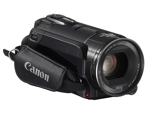 The LEGRIA HF S30 is a Full HD 1920 x 1080, high-end camcorder. It uses a Canon 10x HD Video Lens and a 8.59-megapixel CMOS sensor. It's also equipped with 32 GB of internal memory, two SDXC-compatible slots, 3.5-inch touch LCD, Face Detection, Instant AF, Powered and Dynamic IS. Other pro-level features include color bars and Zebra patterns, Remote Control Terminal (supports LANC protocol) and 24p recording.