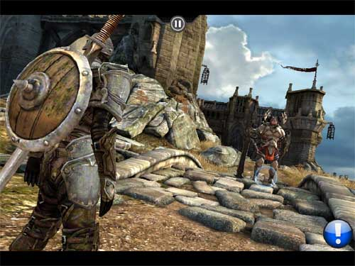 Infinity Blade on the iPad 1. Click for a larger picture.