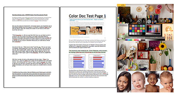 Examples of the documents we use in our tests.