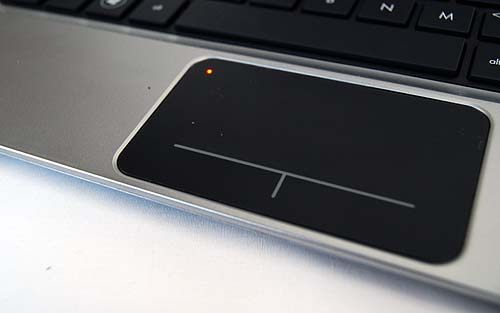 The trackpad can be locked by a simple double tap on the top left corner.