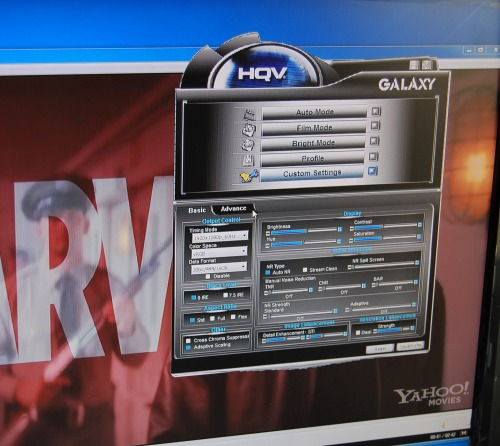 Galaxy has also designed a software interface to allow picture quality fine tuning for the advanced users.
