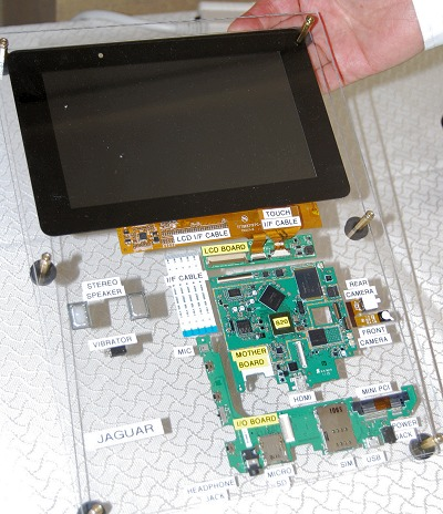 ZiiLabs came prepared with a laid out cross section of the internals - this one specifically reflects the 7-inch edition.