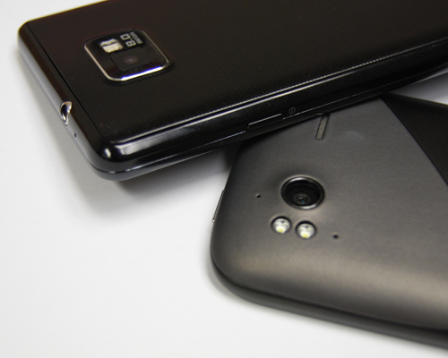Both devices sport an 8-megapixel camera, with the Galaxy S II armed with a single LED flash while HTC adds a second LED flash for the Sensation.