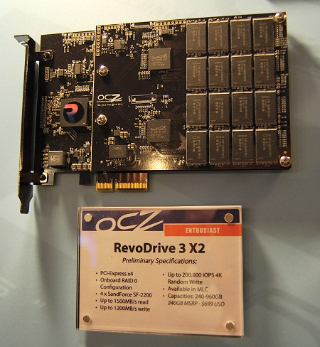 Possibly the meanest storage solution available for an enthusiast, the OCZ RevoDrive 3 X2 uses four SandForce SF-2200 controllers! The specs speak for themselves and are eye-popping indeed.