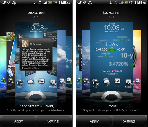 The additional widget on the lock screen creates another layer of interaction for easy access to common features.