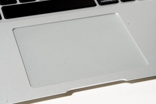 The matte feel of the trackpad is similar to the rest of the machine, and clicking the solid button feels very satisfying.