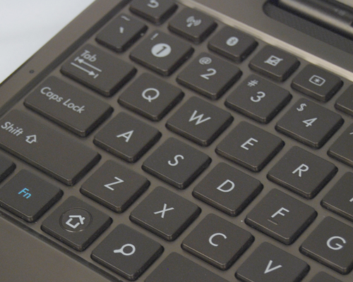 Dedicated function keys to deactivate the track pad or activate its Wi-Fi functionality can be found on the top row of keys.