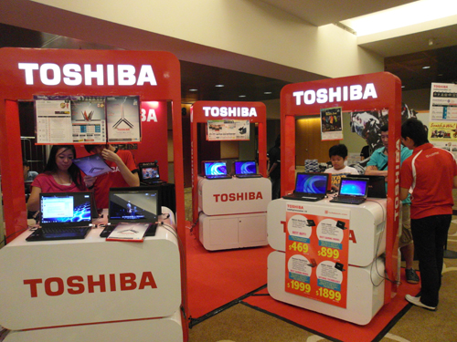 Last but not least, Toshiba's wide range of notebooks are always a hot seller at these bargain shows, so hop on down to PlayTest and get a quick hands-on experience with these Toshiba notebooks.