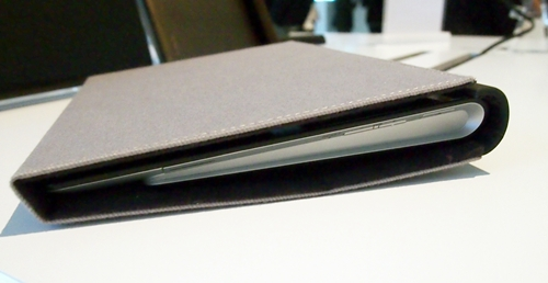 "This folding case strikes a close resemblance to the Apple iPad 2 Smart Cover albeit not as stylish and ""smart""."