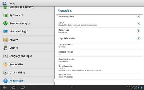 Besides running on Google Android 3.1 OS, you will find Samsung TouchWiz UI on the Galaxy Tab 10.1