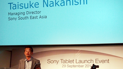 Taisuke Nakanishi, Managing Director for Sony South East Asia was present at the event to unveil the Sony Tablet S.