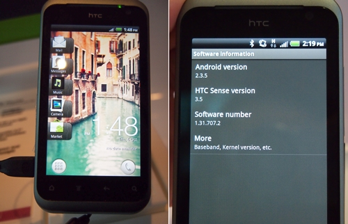 The HTC Rhyme is equipped with the Android 2.3 OS as well as the latest HTC Sense 3.5 UI. Having given the UI a light spin, we found that the latter is similar to its Sense 3.0 cousin, offering a few cosmetic changes and more HTC widgets.
