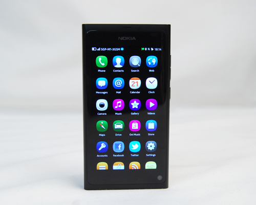With only three pages to swipe through, the MeeGo user interface didn't take us too long to get used to. The Applications page is self-explanatory, with a vertical listing of the preloaded and downloaded apps on the N9.