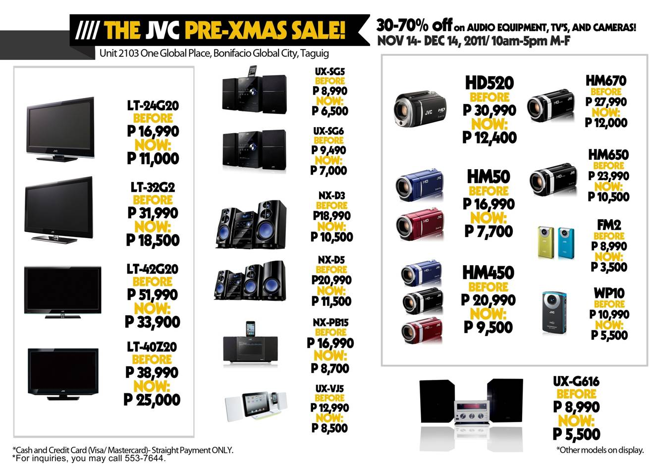 Click the image above to get a larger view of the price list.