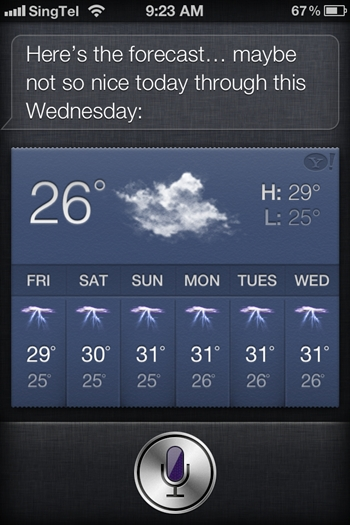 Siri was working fine for us at HardwareZone this morning.
