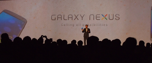 Besides the Galaxy Note, Mr. Lee also introduced the Samsung Galaxy Nexus.