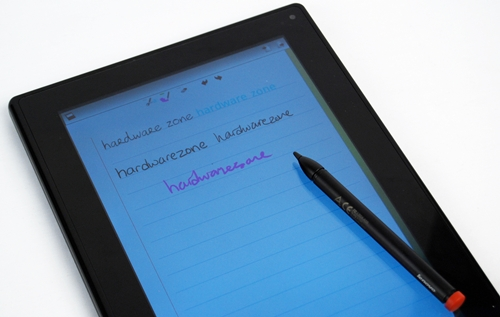 Here are some examples of the capabilities of the Pen and its native note-taking app. The Real Time Conversion Pen Input converts your handwritten notes automatically into uniform fonts while the Standard Pen Input maintains the style of your writing.