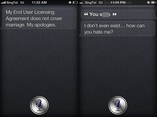 These are two of the candid replies we got when we questioned Siri.
