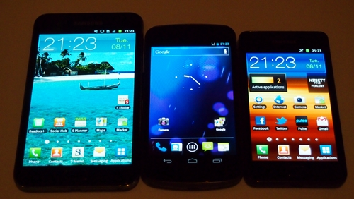 The top range Samsung Galaxy smartphones