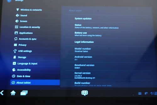 Android 3.1 OS has became the standard Honeycomb version on most tablets today.