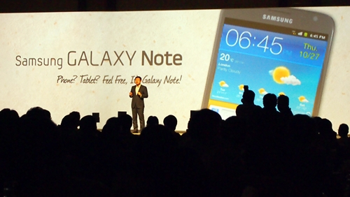 Gregory Lee, President and CEO of Samsung Asia Pte Ltd was present at the event to announce the debut of the Samsung Galaxy Note in Southeast Asia.