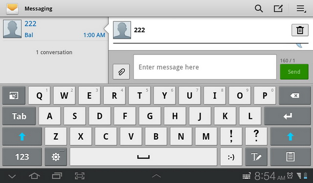 Given the 7-inch screen, using the virtual keyboard is an easy thing to do regardless of the display's orientation.
